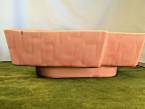Vintage Abstract MCM 1950's Upco Pink Pottery Planter #274