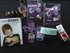 Justin Bieber Bundle BNWT Bracelet x 3 Keyrings x 2 Badges 2 packs