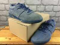 REEBOK MENS UK 7 EU 40.5 CLASSIC WORKOUT LOW NAVY BLUE TRAINERS RRP £70 C