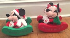 Mickey Mouse and Minnie Animated Sleigh Pals Set Disney Plush Dolls
