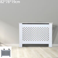 82*78*19cm White Radiator Cover Cabinet MDF Wood Modern Traditional Furniture