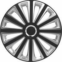 "15"" Silver & Black Wheel Trims Caps Set of 4 Volkswagen Transporter Caddy Amarok"