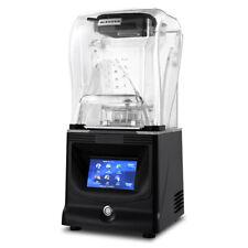 Black Commercial Grade Blender Food Mixer Fruit Juicer Touch Operation 1.2L 110V