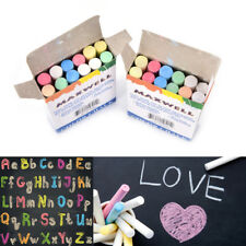 12 pcs Chalk Pen Drawing Chalks For School Blackboard 6 Colors Stationary Hot MW