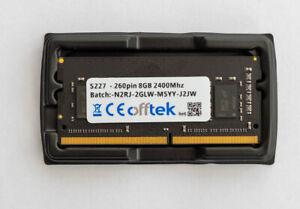 8GB SIMM DDR4 Non-ECC unbuffered memory 2400Mhz 260 pin - free post