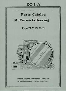McCormick Deering  Type  L  Parts Catalog