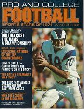 1971 Pro and College Football magazine Roman Gabriel Los Angeles Rams GOOD