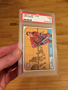 1968 NEAR MINT PSA 7 Ted Harris Montreal Canadiens 1968/69 #162 O-Pee-Chee OPC