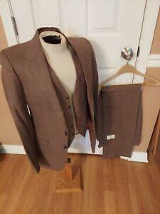 Sz38 W 31 Reg 00907 Austin 3 Pierre Balmain 3-Piece Suit Blazer/Pants/Vest NWT