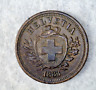 SWITZERLAND 1 RAPPEN 1883 XF/AU SWISS COIN   (stock# 253)