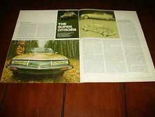 1970 CITROEN SM  ***ORIGINAL VINTAGE ARTICLE***