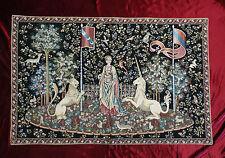 Tapisserie de Italy Tapis la dama E Unicorno Gusto arazzo tapisserie noir