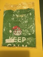 Chive *Authentic* Keep Calm and Chive On Christmas Mistletoe Men's L t-shirt New