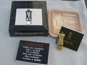 Miguel Berrocal - Micro David Off 1971 Brass Puzzel Sculpture Pendant