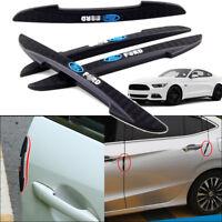For Ford Mustang Car Side Door Edge Guard Bumper Trim Protector PVC Sticker 4pcs