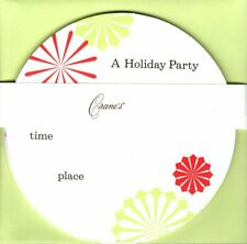 Red & Green Christmas Holiday Party Invitations Crane & Co. Crane's - Set of 10