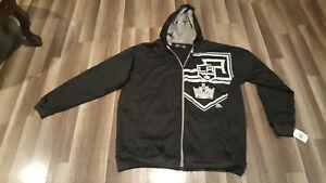 Majestic NHL, LA KINGS men's 3XT-Size full zip Hoodie, track black jacket NWT