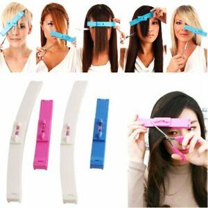 Fashion Hair Cutting Haircut Guide Ruler Layer Bang Style Clip Fringe DIY ToolE&
