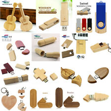 Wooden Bamboo 32GB Memory Storage Flash USB 2.0 Pen Drive U Disk Thumb Lot