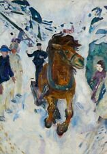 Galloping Horse, 1911, EDVARD MUNCH, Expressionism, Symbolism, Art Poster