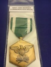 "U S NAVY MEDAL ""NAVY AND MARINES COMMENDATION MEDAL "" Marked EI-GI"