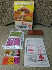 1963 Mattel Barbie Chair Ottoman End Table Go Together Furnitur Kit Nrfp #0409