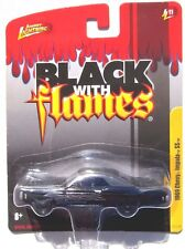 JOHNNY LIGHTNING FOREVER 64 1969 CHEVY IMPALA SS CONVERTIBLE BLACK WITH FLAMES