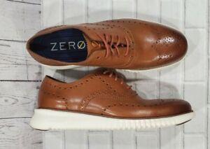 Cole Haan 2.Zerogrand Wingtip Ox Shoes British Brown C31532 MENS SIZE 8.5