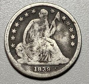 1839 Seated Liberty 10C Silver Dime