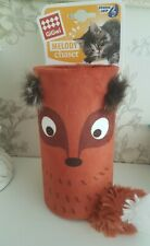 BNWT Gigwi Cat Toy Melody Tube Fox Sound Chip Interactive Realistic Tail Tunnel