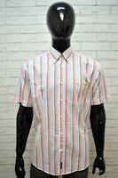 Camicia a Righe Uomo M. GREGOR Taglia XL Camicetta Manica Corta Maglia Shirt Man