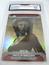 AAYLA SECURA 2015 TOPPS CHROME STAR WARS PERSPECTIVES REFRACTOR #7S GRADED 10