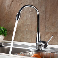 Kitchen Swivel Spout Single Handle Sink Faucet Pull Down Spray Tap US Stock