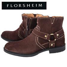 Florsheim Mogul Brown Suede Harness Boots - Men's 8