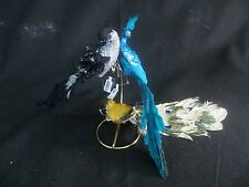 LOT OF 3 - PIER 1 CLIP ON BIRD CHRISTMAS ORNAMENTS - LARGE BIRD ORNAMENTS