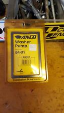 Windshield Washer Pump Anco 64-01 MOPAR DODGE PLYMOUTH CHRYSLER