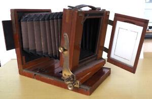 Holzkamera Laufboden Reisekamera 9x12cm/6x9, + Kassetten  + Rollfilmmagazin
