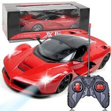 Kids Remote Radio Controllato Rosso Auto Giocattolo Regalo Ferrari modello BATTERIA RICARICABILE