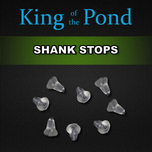 X2 packets of shank stops / hook beads clear x20 - carp fishing, carp rigs