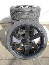 "22"" NEW 4 CHEVROLET TRAILBLAZER GMC ENVOY FACTORY STYLE BLACK WHEELS TIRES 5254"