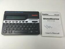 Franklin Wordmaster Deluxe Model Wm-1055 With User Manual
