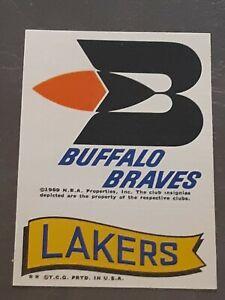 1973-74 Topps Basketball Los Angeles Lakers Buffalo Braves NBA ABA Sticker NM+