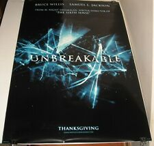 Rolled Unbreakable Advance Movie Poster Double Sided Samuel L Jackson Willis