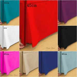 Plain Dyed Poly Cotton Fitted Platform Base Valance Box Pleated Sheet All Sizes