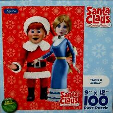 """Santa Claus is Comin to Town Santa & Jessica Puzzle 100 Piece 9""""x12"""" Sealed 2011"""