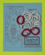 1982 Bally Mr. & Mrs Pacman Pac-Man pinball rubber ring kit