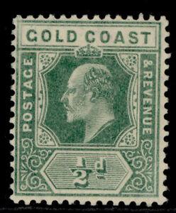 GOLD COAST EDVII SG59, ½d dull green, LH MINT. Cat £12.