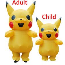 USA Inflatable Pikachu mascot Costume Pokemon Costumes Adults kids outfit dress$