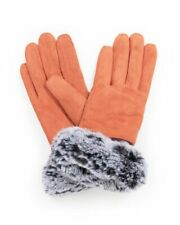 Penelope Faux Suede Gloves by Powder - Coral