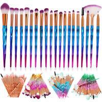 20Pcs Unicorn Diamond Makeup Brushes Set Powder Eyebrow Eyeshadow Soft Brush Kit